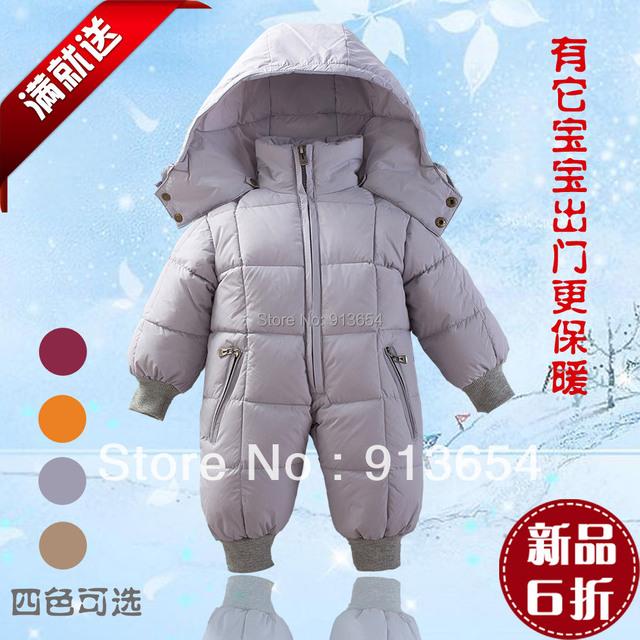 Nuevo 2016 otoño mameluco del invierno ropa de bebé recién nacido mono del bebé abajo de la capa del bebé infantiles caliente general
