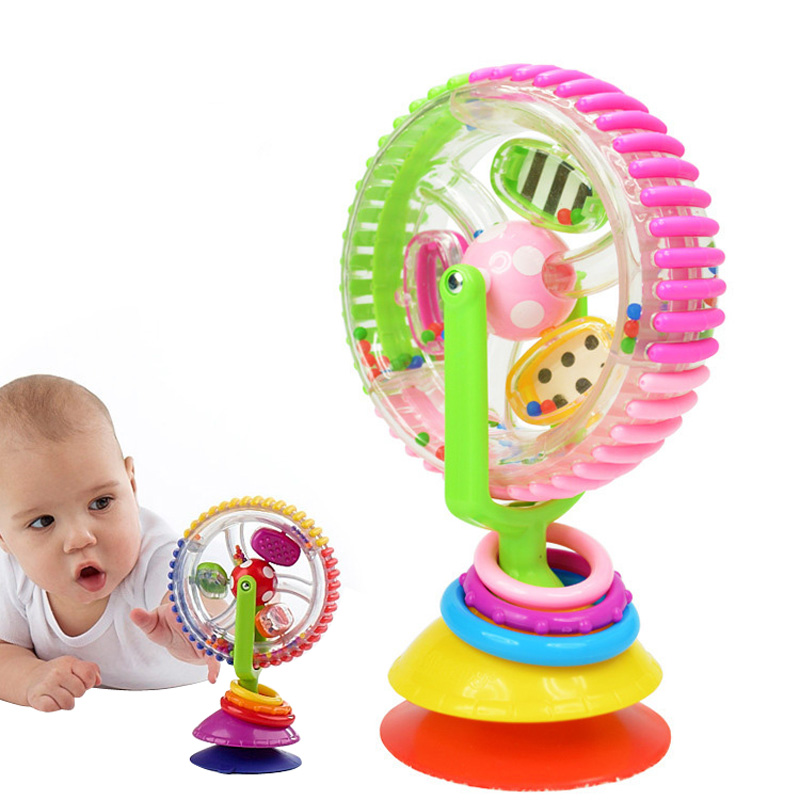 Colorful Newborn Baby Kids Boy Girls Rotating Ferris Wheel Brinquedo Stroller High Chair Rattles Toys For Children