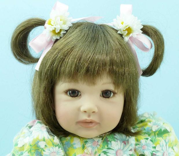 60cm Silicone Vinyl Reborn Baby Doll Toys Lifelike 24inch Princess Toddler Doll Baby Reborn Girls Bonecas