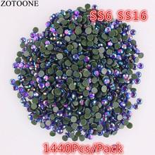 Фотография ZOTOONE 1440pcs SS16 Crystal AB Rhinestone 2mm Thermal Adhesive Wedding Dress Strass Hotfix DIY Flatback Rhinestone For Clothes