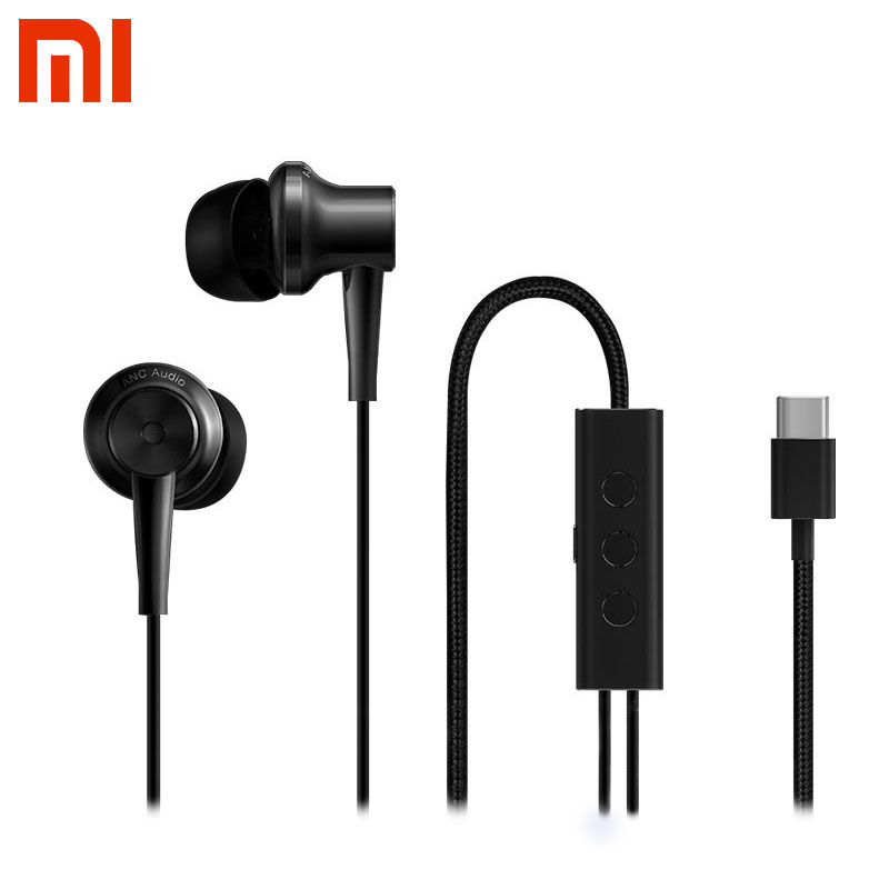 Original Xiaomi ANC Earphones Hybrid Type-C Charging-Free Mic Line Control Music earphone for Xiaomi Mi6 MIX Note2 Mi5s/Plus Mi5 аксессуар чехол xiaomi mi5 cojess silicone 0 3mm grey