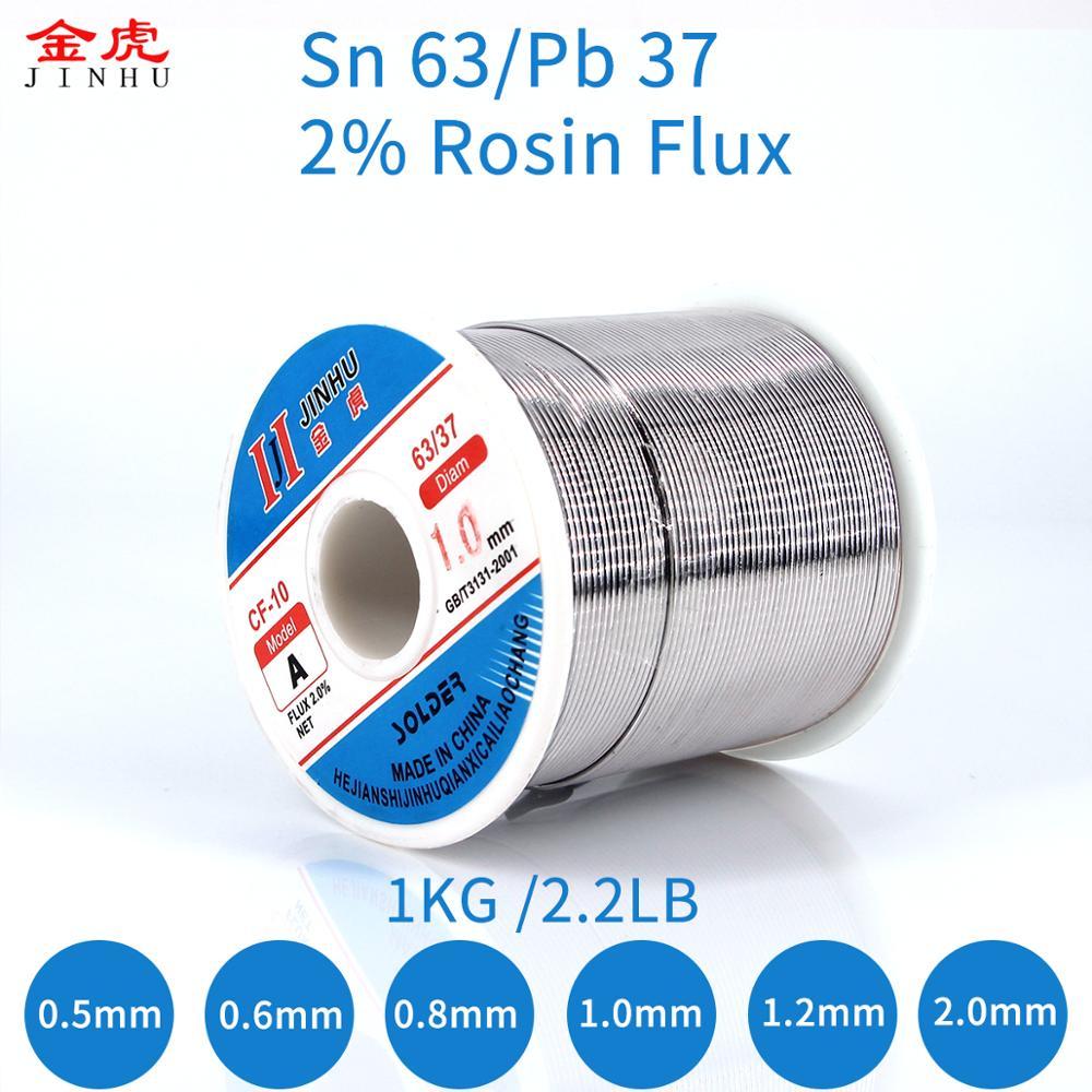 1 кг 2.2LB 0,5 мм 2,0 мм паяльная проволока 63/37 Оловянная свинцовая канифоль сердечник флюс для ремонта электрооборудования, IC ремонт