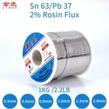 Fil à souder 0.5 plomb, 2.0mm-63/37mm, 1kg, pour Flux de colophane, étain, pour réparation électrique et IC