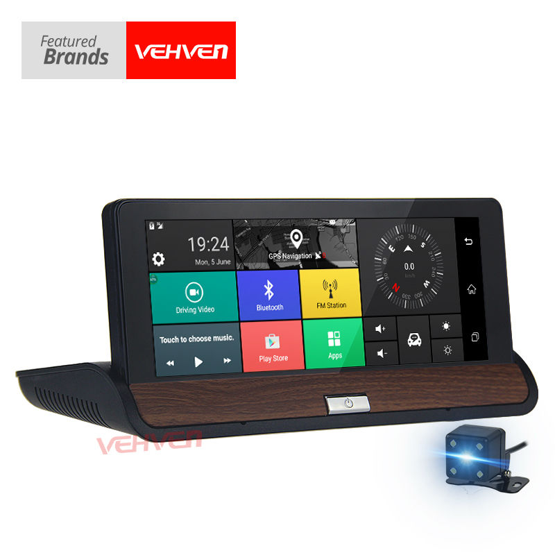 VEHVEN 6.86 GPS Navigator DVR Dual Lens Bluetooth FM Android 5.0 Wifi 16GB 1G 1080P Full HD with Car Video Recorder Automobile gps навигатор lexand sa5 hd