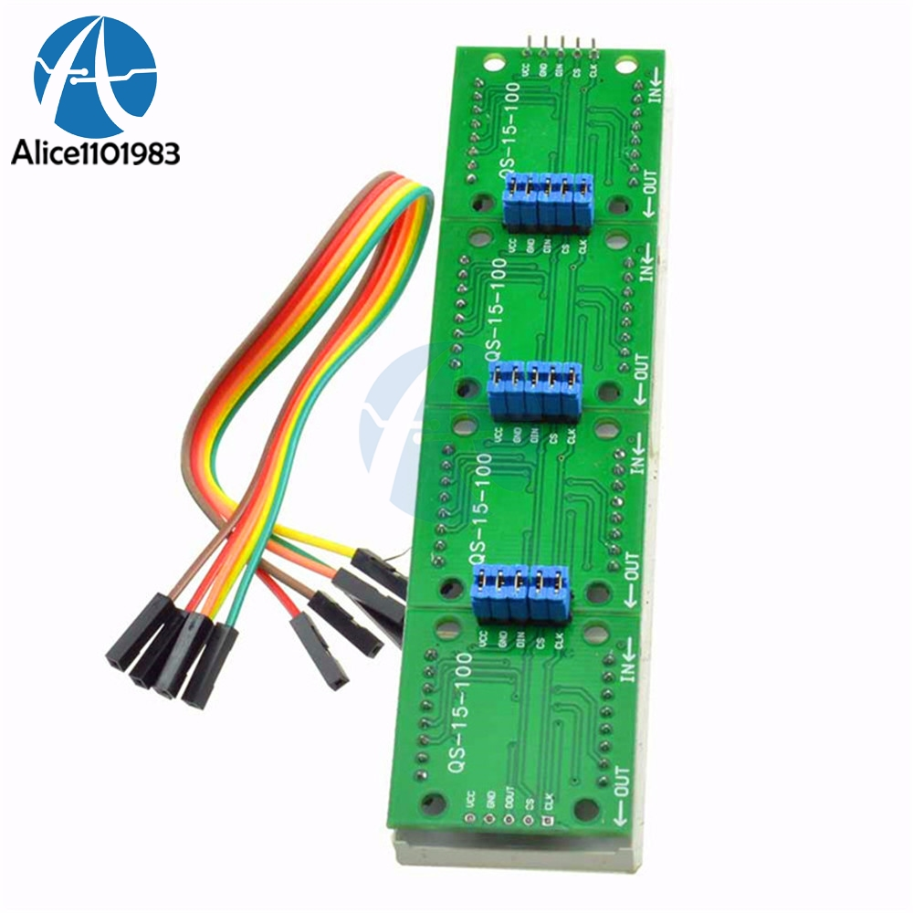 Max7219 Led Microcontroller 4 In 1 Display With 5p Line Dot Matrix The Rgb Project Application Circuit X Module For Arduino