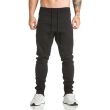 2017 Year Men bodybuilding Long pants Cotton Men's gasp workout fitness Pants casual sweatpants jogger pants skinny trousers