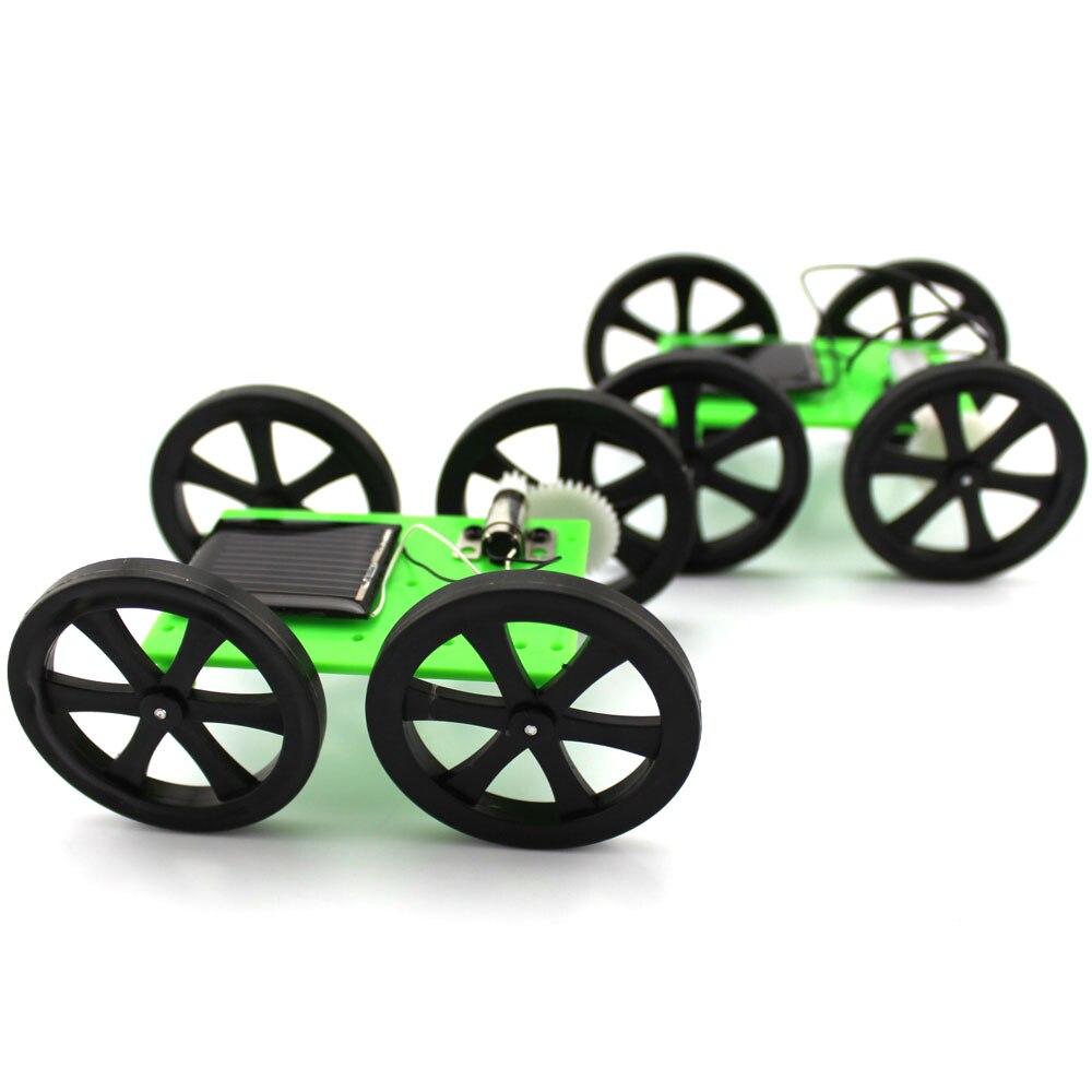 Мини игрушка на солнечных батареях DIY ручной работы автомобильный набор 5*44*60 мм 4WD умный робот шасси автомобиля Зеленая энергия Новинка игру...