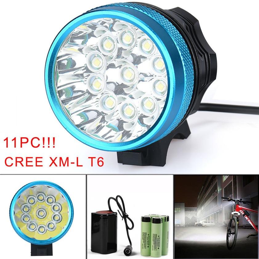 High Quality 28000LM 11 x CREE XM-L T6 LED 6 x 18650 Bicycle Cycling Light Waterproof Lamp