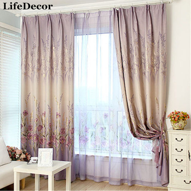 minimalist window treatments industrial chic custommade bronzing flowers window curtains finished modern minimalist living room bedroom full blackout shade custom made