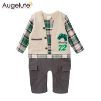 Baby Boy Clothes Cotton Spring Baby Rompers Long Sleeve Newborn Baby Costume Infant Cartoon Letter Baby