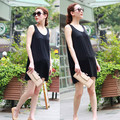 Spring summer 2016 maternity clothing cotton knitted elastic vest top maternity one-piece dress