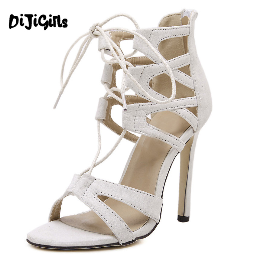 Popular White Heeled Sandals-Buy Cheap White Heeled Sandals lots ...