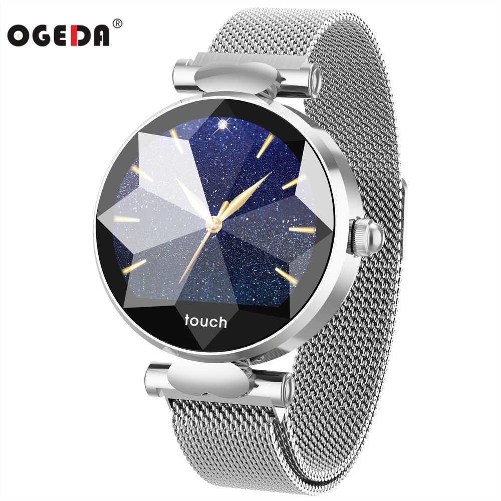 OGEDA B80 أزياء النساء ساعة ذكية جهاز تعقب للياقة البدنية Smartwatch القلب معدل مراقبة ضغط الدم سوار ذكي الإناث نماذج
