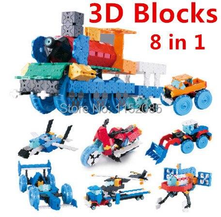 850 ピース/ロット! 人気 LaQ スタイル 3D モデルビルディングブロック 8 1 車セット知育玩具のおもちゃでオリジナル 3D ブロック  グループ上の おもちゃ & ホビー からの ブロック の中 1