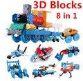 850 unids/lote! popular estilo laq 3d modelo de bloques de construcción 8 en 1 cars set educativos juguetes niñas juguetes original 3d bloque
