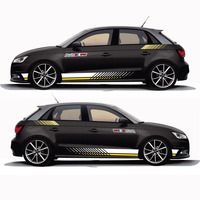 World Datong car sticker For Audi A1 30 TFSI Sportback Racing Sport Styling S Lines Decal Car Body Whole Vinyl Stickers