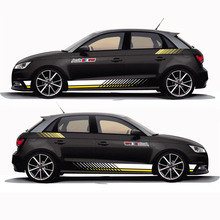 World Datong car sticker For Audi A1 30 TFSI Sportback Racing Sport Styling S Lines Decal Car Body Whole Vinyl Stickers maisy s racing car