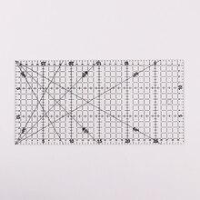1 шт. прозрачная акриловая Лоскутная выровненная линейка с сеткой для вырезания крафт, инструменты для рисования, Линейка 30x15 см