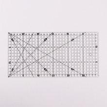 Régua de acrílico transparente, régua alinhada de patchwork, régua para corte, escala artesanal, régua de ferramentas de desenho, 30x15cm, 1 peça
