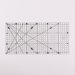 1 PC Transparent Quilting Acrylic Patchwork Aligned Ruler Grid Cutting Craft Scale Rule Drawing Tools Ruler 30x15cm
