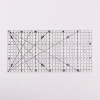 1 pc transparente quilting acrílico retalhos alinhados régua corte grade artesanato escala regra desenho ferramentas régua 30x15cm