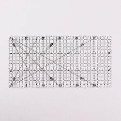 Quilting Patchwork Acrílico Alinhados 1 pc Transparente Governante Grade Ofício De Corte Ferramentas de Desenho Régua Escala Regra 30x15 cm