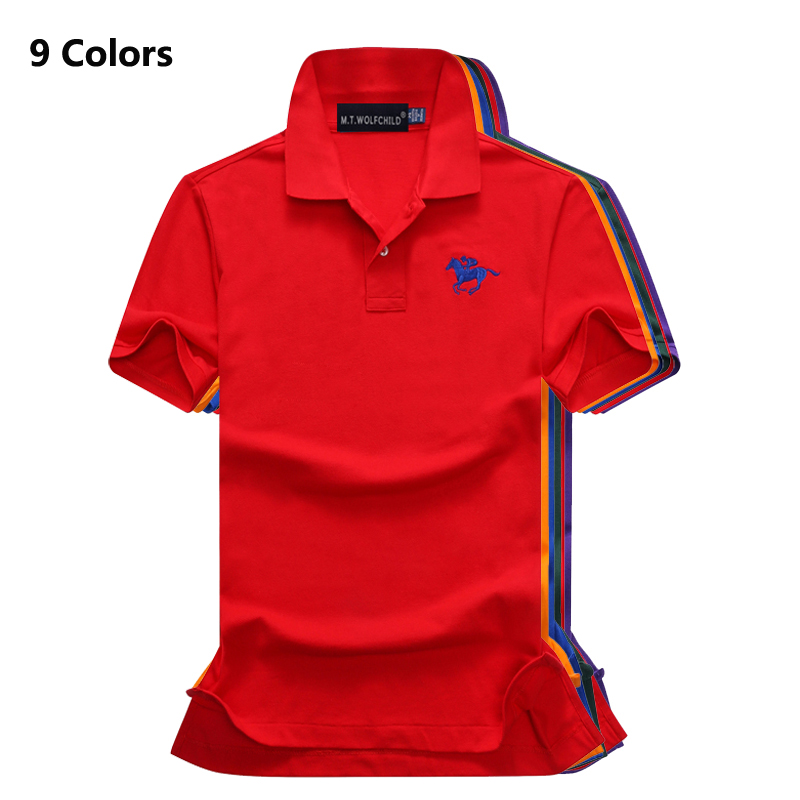 High quality 2018 Summer brand Mens solid color short sleeve   polos   shirts cotton casual lapel   polos   fashion slim mens tops