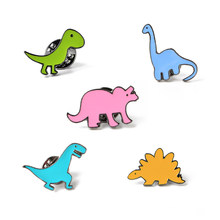 Kpop Fashion Cartoon Brooches For Women Child 5pcs Set Cute Dinosaur Enamel Pins Bag Button Badge Jackets Lapel Pin Jewelry Gift(China)