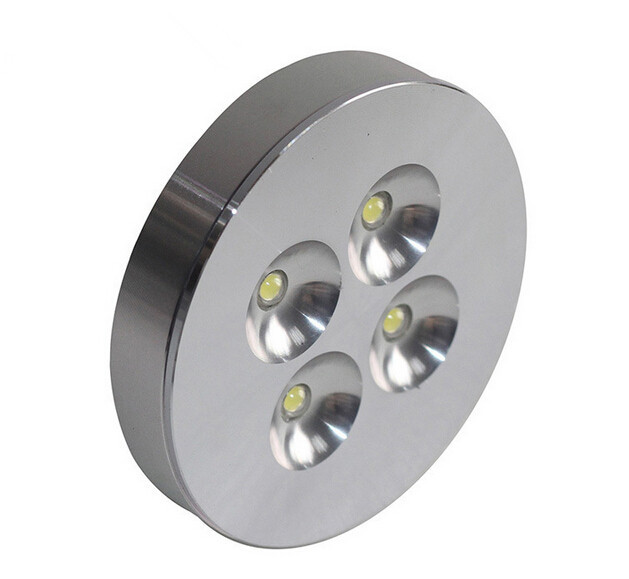 Free Shipping AC85-260V 4X2W Warm White/Pure White/Cold White Dimmable LED Puck/Cabinet Light 30pcs/lot