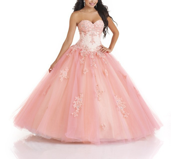 Wonderful Cheap Girls Ball Gown Quinceanera Crystals Appliques Sequins Jacket Sweet vestido 15 Birthday Party   bridesmaid     dresses