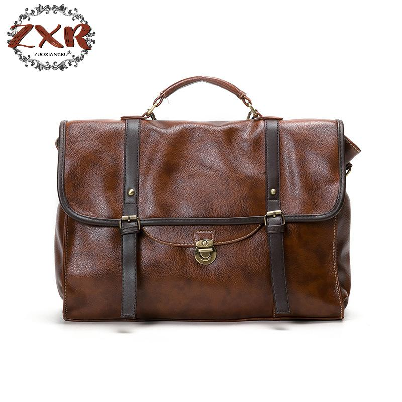 New Unisex Large Vintage Man and Women PU Leather Shoulder Crossbody Bag Female Lady Fashion Handbag Bagpack Travel Bag поло мужское u s polo assn цвет белый g081sz0820gongo vr019 размер xs 44
