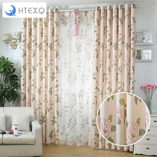 Htexq Design Washable Curtain Fabrics Beautiful Sheer Panel American Country Style Window For Balcony Kitchen