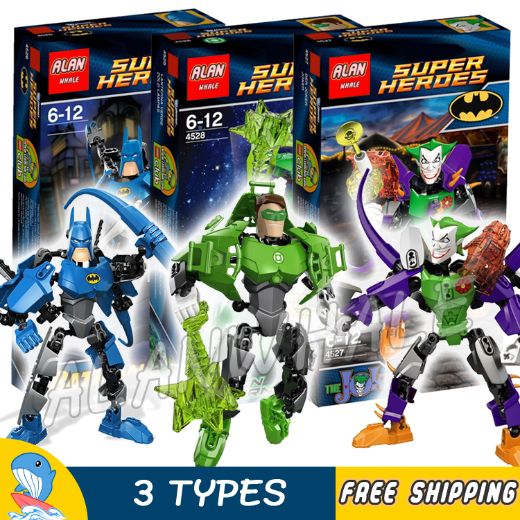 3types Super Heroes Hero Factory Ultrabuild Batman Green Lantern The Joker Model Buildin ...