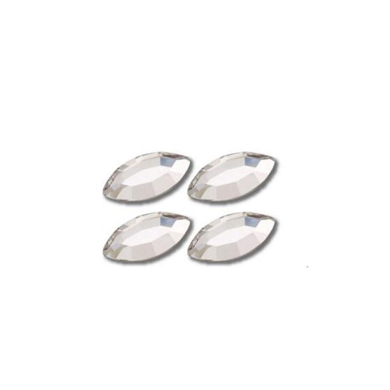 50pcs 8mm Crystal Rhinestone Applique Wedding DIY Flatback Crystal For Clothes Nail Art Horse Eye Hot-fix RhinestoneTrim