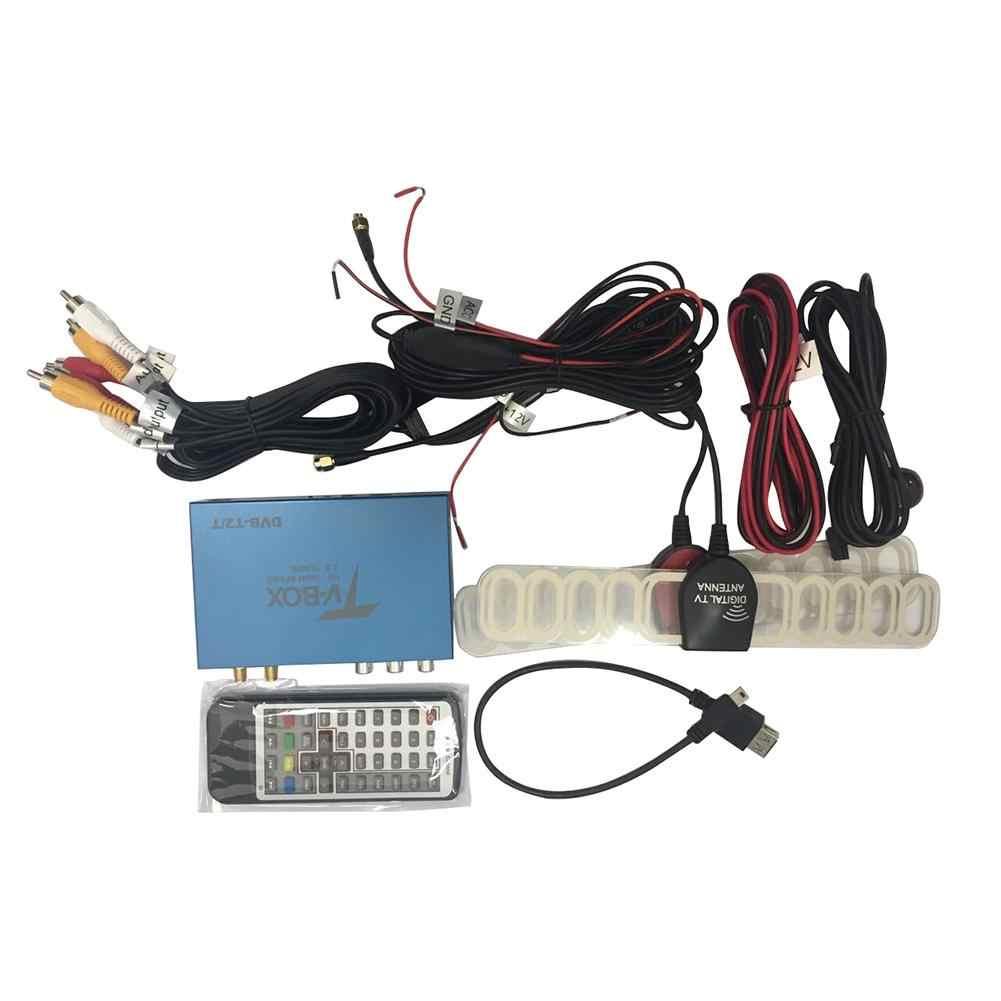 Новый двойной антенная коробка для ТВ SMA Порты и разъёмы цифровой HD ТВ с dvb-t/DVB-T2/H.264/H.265 ATSC isdb-t; по-настоящему высокое Скорость 160 км/ч Совместимость