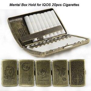Image 1 - Новый металлический чехол для сигарет, карман для хранения, контейнер для испарителя IQOS, мини держатель для сигарет