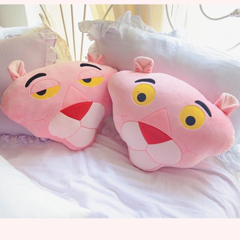 53*35 Cm doux rose panthère oreillers dos coussin en peluche jouets pour enfants