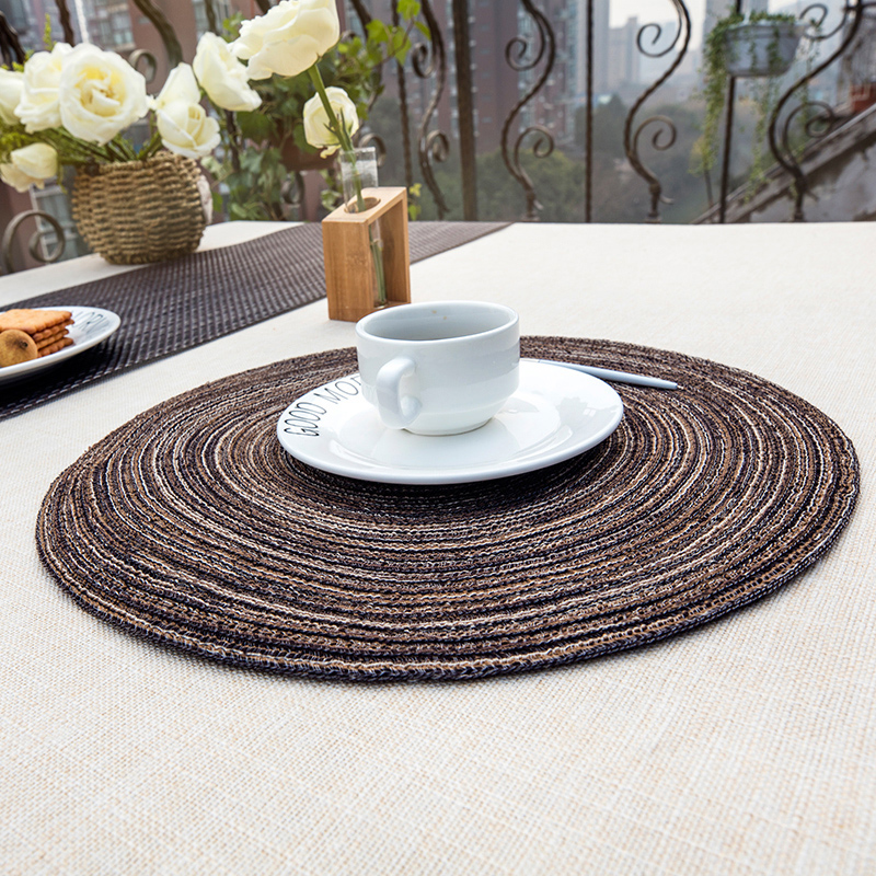 Beautiful 2pcs/lot Decorative Table Mat Round Placemats Hand knitted Cotton  TK78
