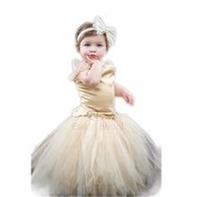 2016 Elegant Hand woven Baby Girls Tutu Dress suit For 1st birthday party Infants flower girls