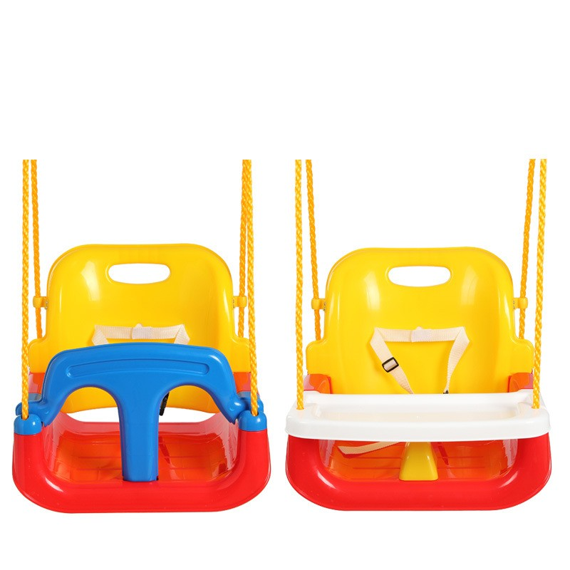 Safe Outdoor Baby Kids Play Swings Plastic Baby Swings With Dinner Plate Baby Children Garden Park Game Play Rocking Chair цены