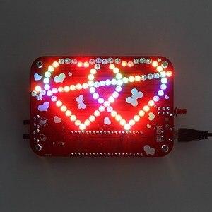 Image 4 - Eletrônico criativo diy kit rgb led duplo coração em forma de música de luz com kit de concha electronique colorido diy kit eletrônico