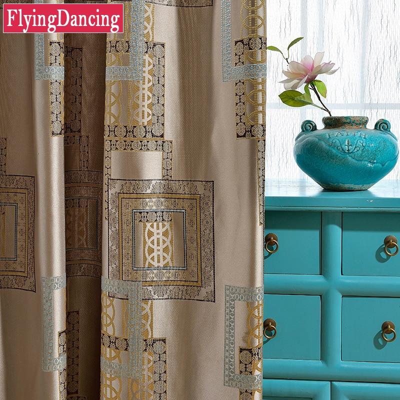 Geometric Jacquard Modern Curtains Simple Design Living: High Precision Luxury Jacquard Curtains For Living Room