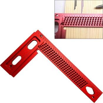 T-160/200/260 Measuring Tool Woodworking T-type Scribe Mark Measurement Tool Aluminum Alloy Precision Cross-calibration Ruler