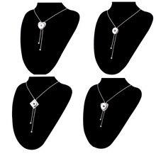Geometrical Button Tassel  Necklace