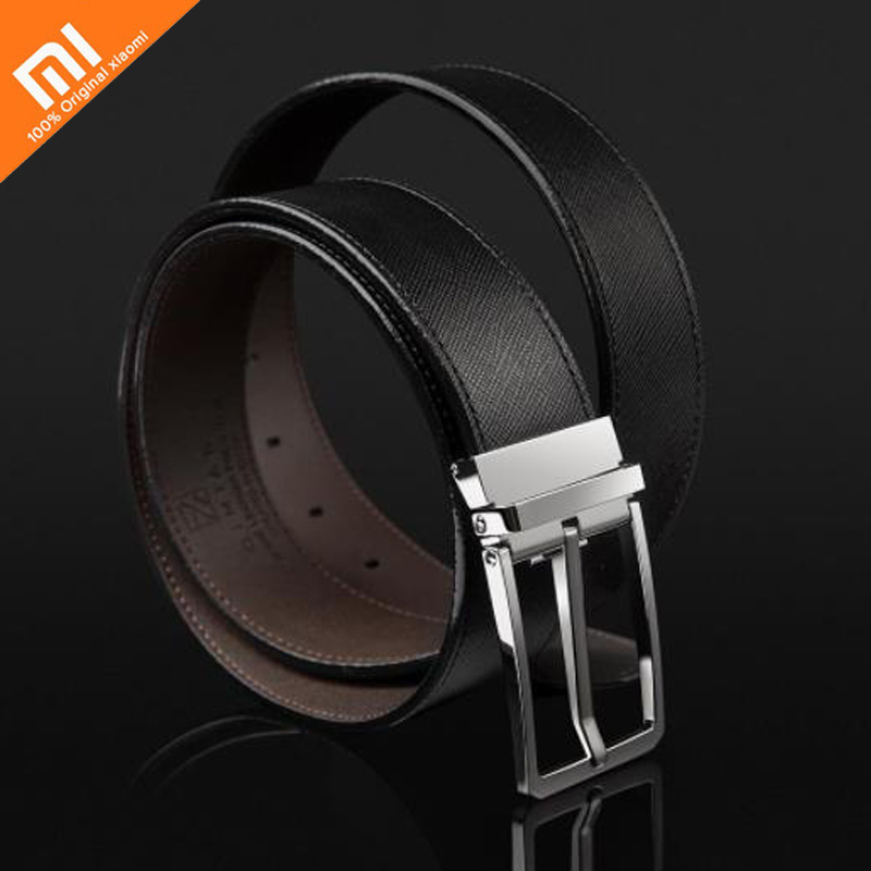 Original xiaomi mijia Italian leather pin buckle belt 304 stainless steel buckle positive and negative dual