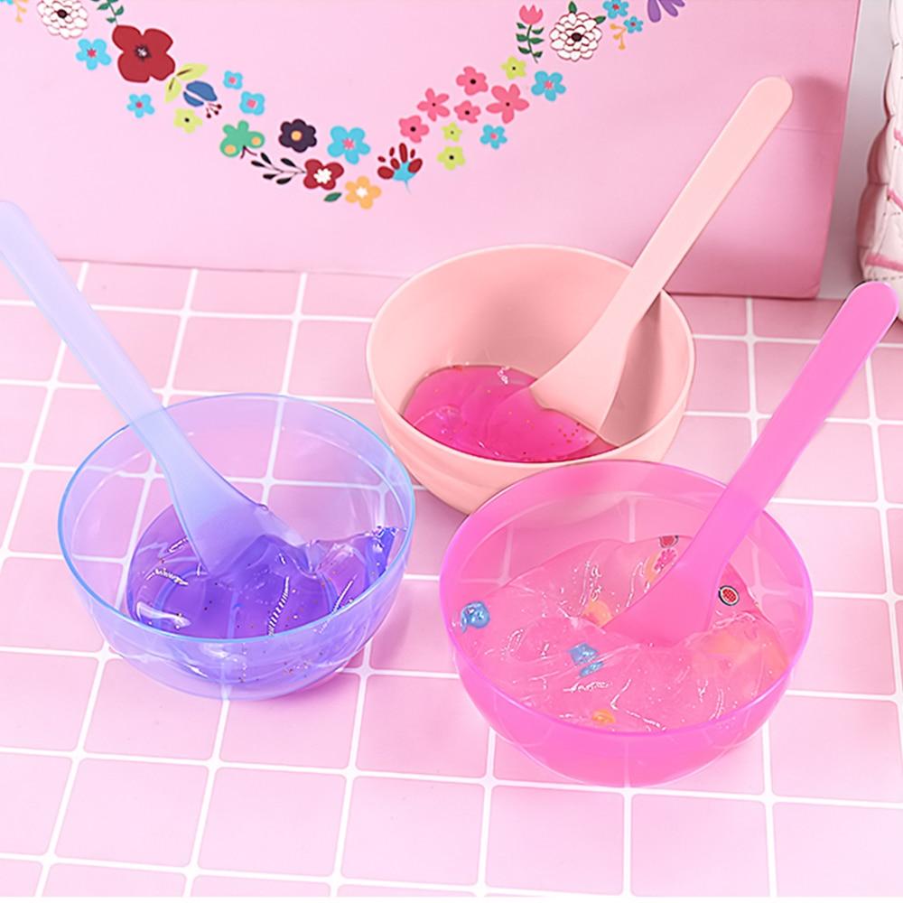 """Чаша в стиле """"сделай сам"""" набор грязь Tool Mixing глубокая тарелка с ложкой Кристалл грязи детские игрушки цветной Лизун контейнер Box Пластилин «сделай сам» Набор слизи для глины"""