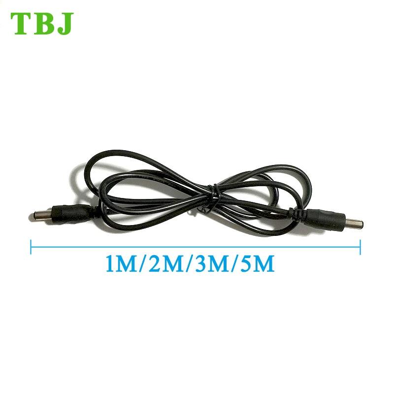 22AWG 1M 2M 3M 5M 2.1mm x 5.5mm Plug 1 male to male DC