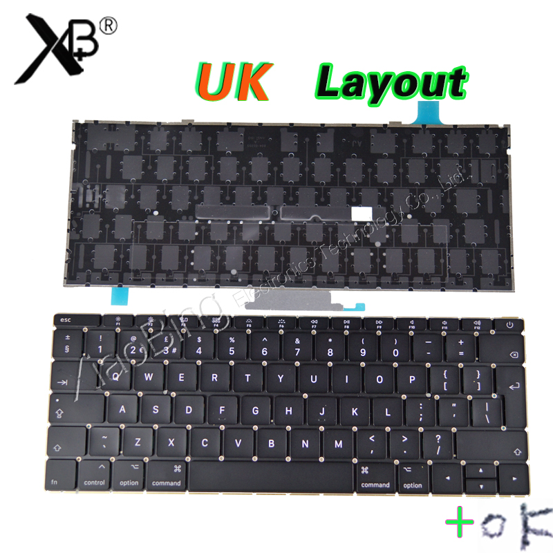 New Laptop A1534 UK Keyboard Backlight Backlit +Screws for Macbook 12 A1534 UK English Keyboard 2015 Year lhd 35w 2 8 inch hid bixenon headlight headlamp projector lens full retrofit kit car angle eye halo h7 h4 ballast xenon bulb