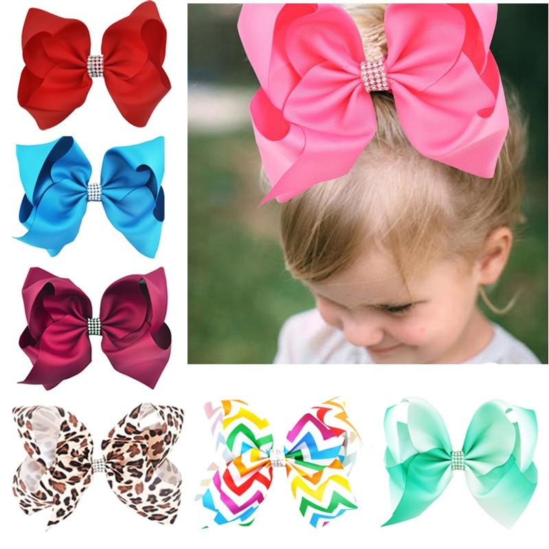 10//5 Girls Baby Kids Children Hair Accessories Bows Alligator Clips Slides UK