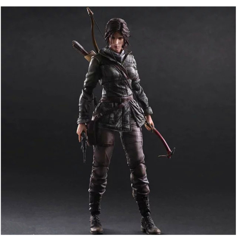 26CM Play Arts Rise of The Tomb Raider Lara Croft Figurine Dolls Toys PVC Action Figure Collection Model Toy H50326CM Play Arts Rise of The Tomb Raider Lara Croft Figurine Dolls Toys PVC Action Figure Collection Model Toy H503